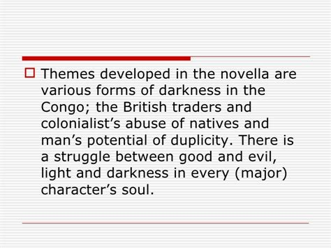main themes in heart of darkness by joseph conrad the journey within the heart of darkness 11