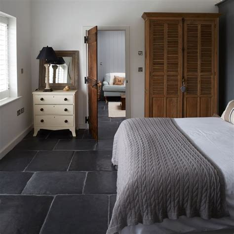 grey flooring bedroom modern country style modern country new build home tour