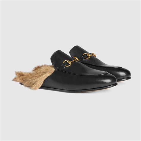 leather slippers womens gucci princetown leather slipper 397749dkh201063