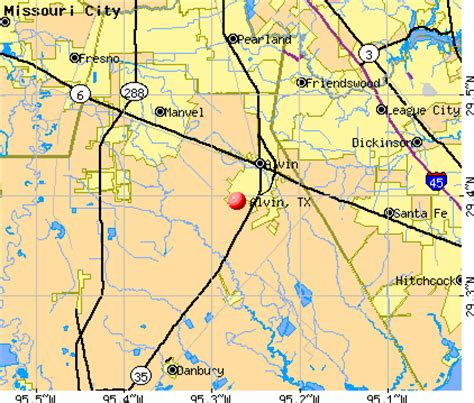 map of alvin texas alvin texas