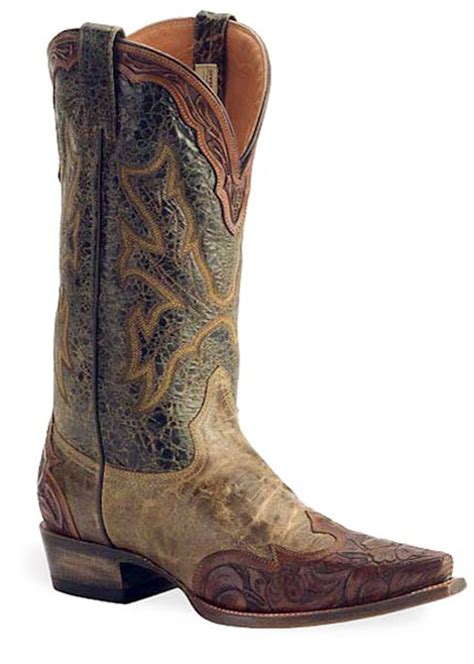 stetson mens cowboy boots stetson mens 13 quot tooled brown snip toe western cowboy