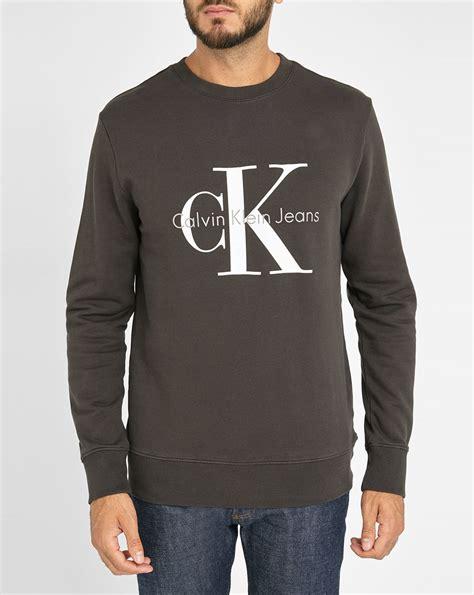 Sweater Sket Logo 1 calvin klein black 90s logo sweatshirt in khaki for grey lyst