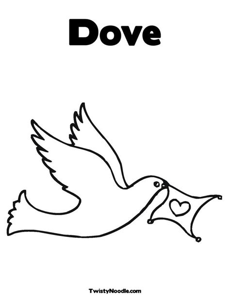 Small Dove Outline by Small Dove Colouring Pages