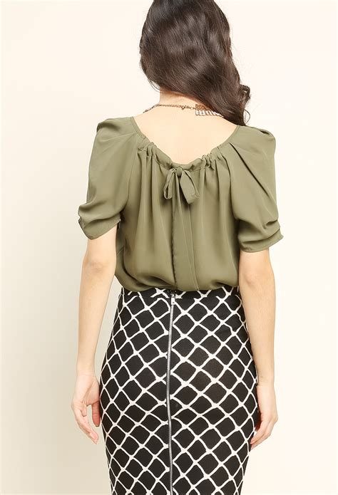 Ribbon Chiffon Top back ribbon chiffon top shop new and now at papaya clothing