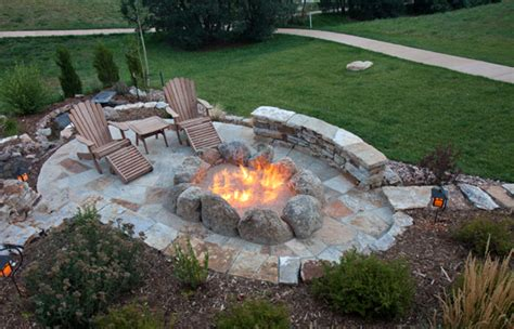 How To Build A Backyard Pit Out Of Bricks by Outdoor Pit Designs Landscapers Talk Local