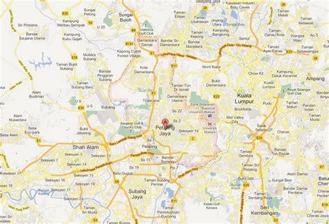 petaling jaya map  petaling jaya satellite image