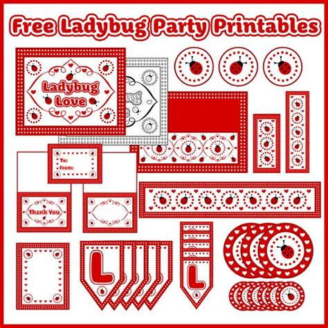 Free Printable Ladybug Birthday Decorations | free ladybug party printables from printabelle catch my