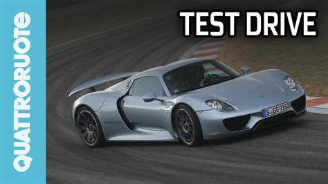 Porsche 918 Test by Porsche 918 Spyder 2014 Test Drive Youtube