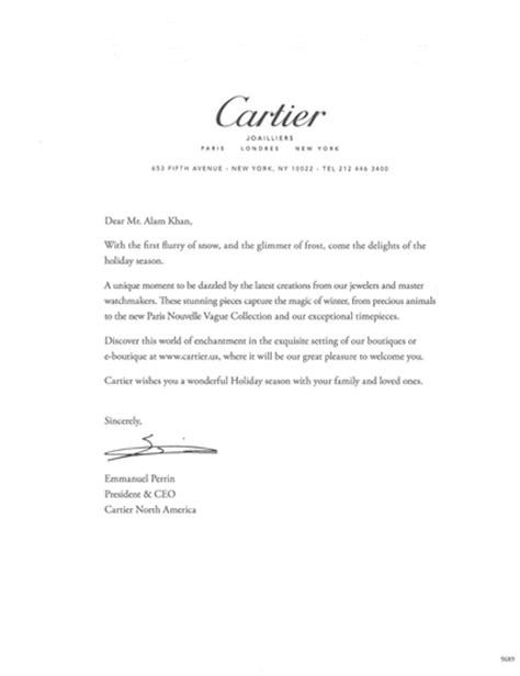Jewelry Company Introduction Letter Luxury Daily