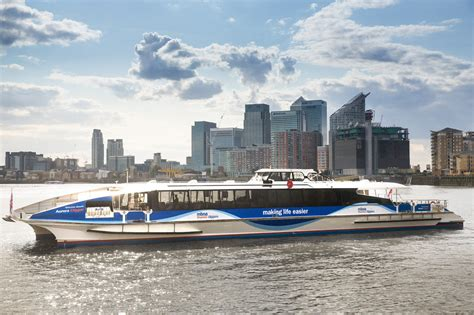 thames clipper to canary wharf marine wharf east mwe at surrey quays london se16 by
