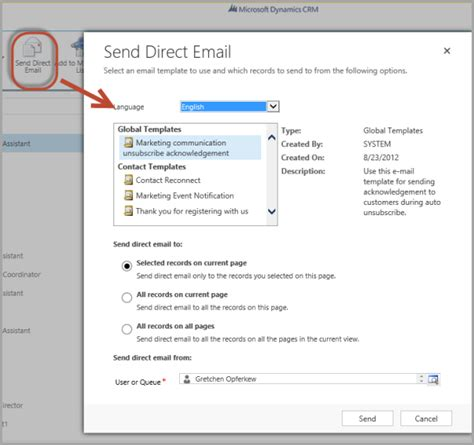 Microsoft Dynamics 365 Email Templates The Crm Book Send Email Template