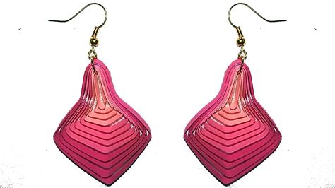 Paper Craft Earrings - papercraft new model quilling papers earring paper