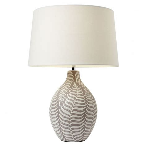Bathroom Track Lighting Ideas by Buy Ceramic Table Lamps Ceramc Taupe Leaf Patterned Base