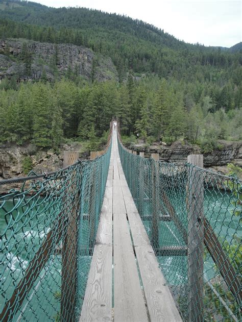 kootenai falls swinging bridge the swinging bridge mt montana my montana pinterest