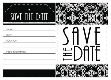 save the date event card templates blue event planning free downloadable save the date
