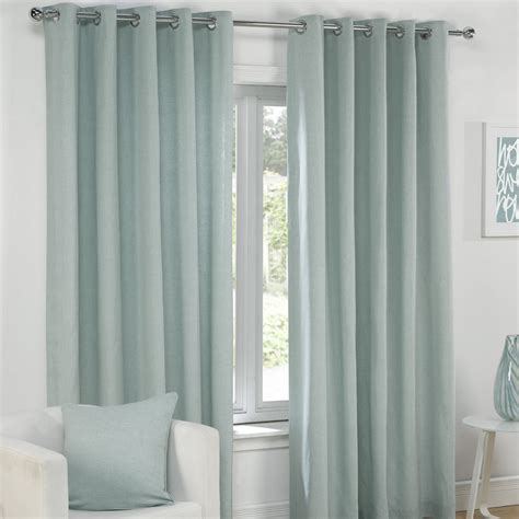 cream and gray curtains plain eyelet grommet fully lined pair window curtains