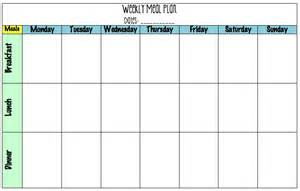 search results for 7 day meal planning template