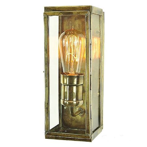 brass outdoor wall light ip44 exterior wall light industiral design in rectangular