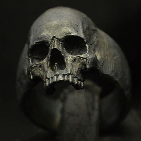 sterling silver skull new small half jaw 925 sterling silver skull ring