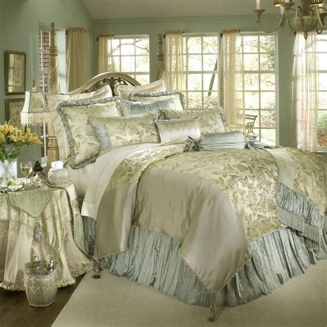 Luxury Comforter Sets by Luxury White Gold And Blue Bedding Set Decoracion
