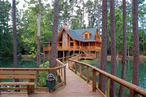 Cottages For Rent Near Me by The Retreat At Artesian Lakes Log Cabin Rentals On The