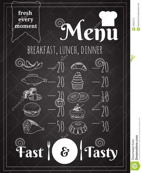 vector food menu poster design stock photo image 43620172