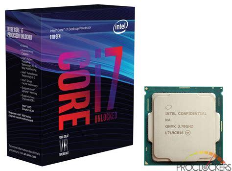 Cpu I 7 intel i7 8700k cpu review proclockers