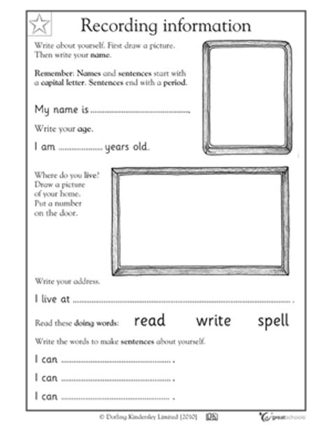 All About Me Middle School Worksheet by 18 Best Images Of Middle School Writing Activities