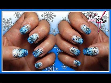tutorial nail art frozen nail art frozen fiocco di neve snowflake con gradient