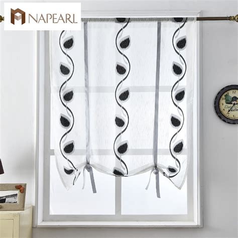 Kitchen Door Curtain Aliexpress Buy Curtains Kitchen Door Blinds Voile Fabrics Black Cafe