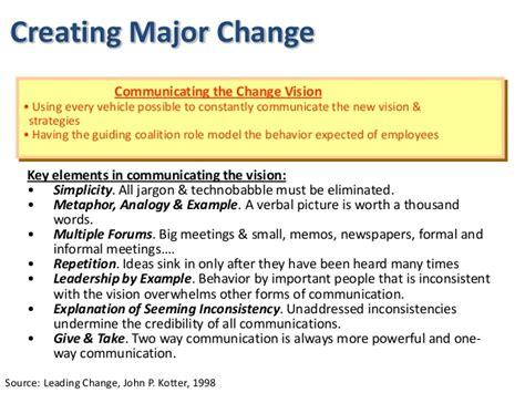 kotter key strategic delivery of change management