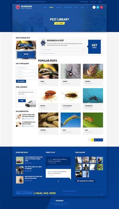 invoice design themeforest guardian pest control psd template by leehari themeforest