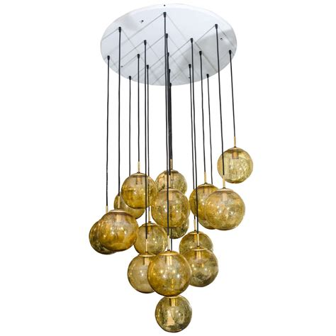 glass globe chandelier glass globe chandelier by limburg glashutte germany for