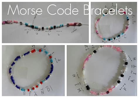 creative crafts creative crafts morse code bracelets practical pages