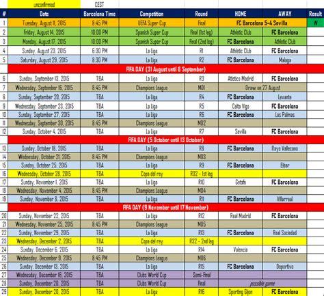 barcelona calendar mesqueunclub gr calendar barcelona schedule for 2015