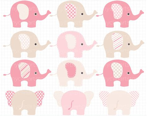 Pink Elephant Baby Shower by Baby Shower Pink Elephant Clipart 55