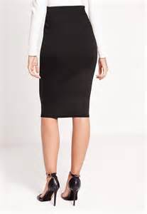 scuba midi skirt black missguided australia