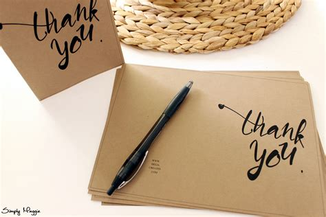 Simple Thank You Card Template by Thank You Card Template Free Simplymaggie