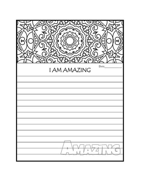 printable c journal pages journal page printable journal pages i am amazing coloring