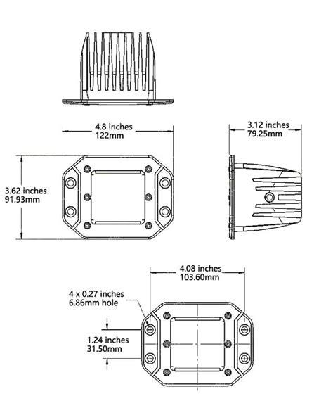 installing flush mount led lights how to install dually flush mount led pod light kit