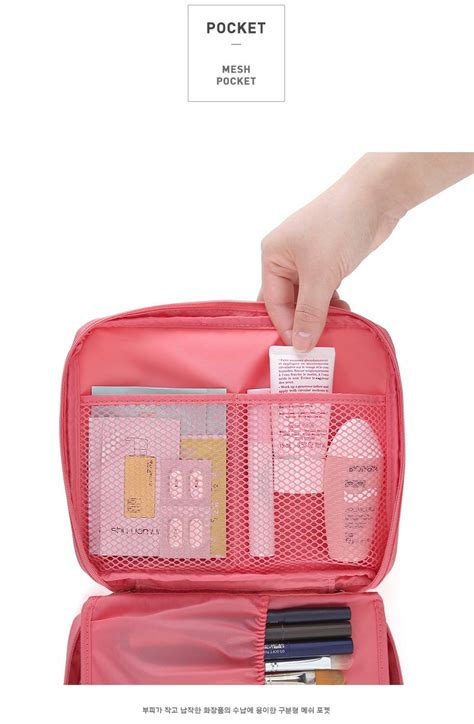 Tn012 Tas Kosmetik Travel Bag Korean Multi Pouch Cosmetic Toiletries 1 tas travel korea import bg621 pink tamochi