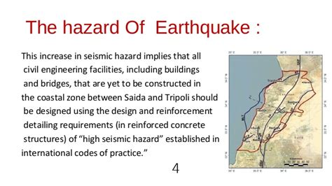 earthquake hazard expected  lebanon
