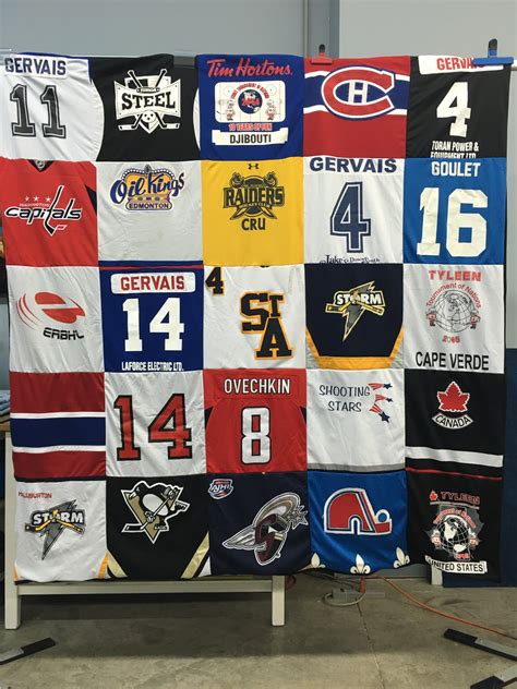 Quilts Made From Sports Jerseys by Sparrow Studioz Apqs Canada S Studio T Shirt