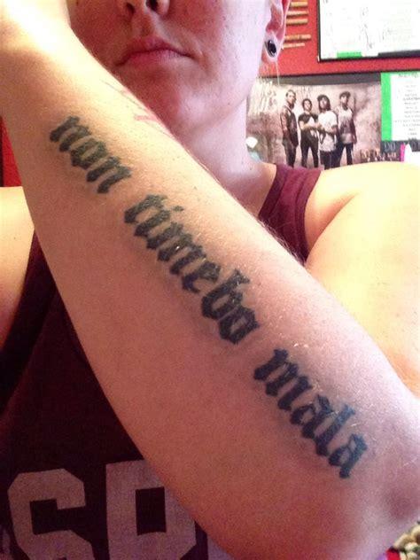 non timebo mala tattoo supernatural non timebo mala www pixshark