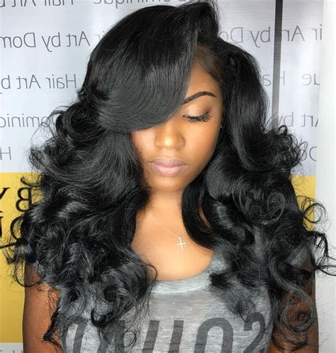 hair style french weave straight for wemen straight weave styles with bangs 50 best eye catching long