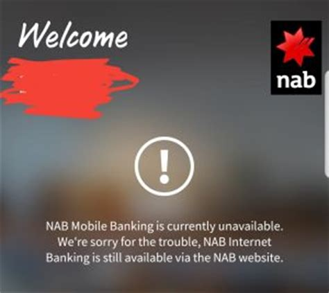 nab bank site nab mobile banking outage leaves customers in