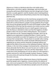 Deontological Argument Essay by Sle Essay On Ethics