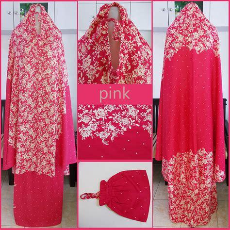 Bunga Pasir Warna Tua mukena bali motif bunga krisan warna pink