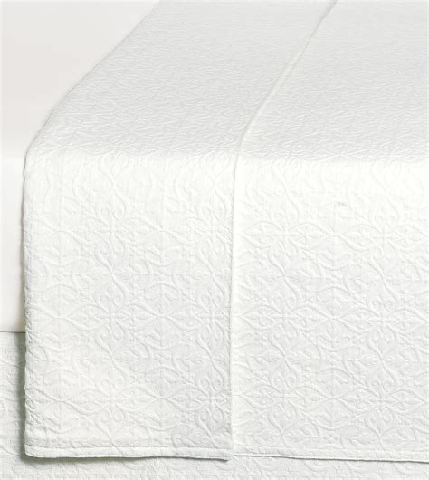 Belmont Home Decor Luxury Bedding Mea White Coverlet