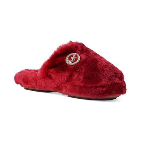 michael kors faux fur slippers michael kors michael jet set mk faux fur slippers in